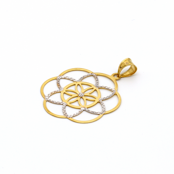 Real Gold 2C Flower GZP 002 Pendant 2020 - 18K Gold Jewelry