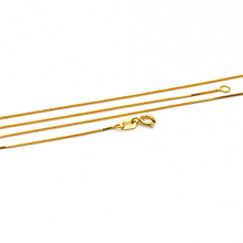 Real Gold New Box Chain (45 C.M) 1122 - 18K Gold Jewelry
