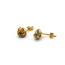 Real Gold 3 Color Twisted Earring Set 1032 E1604 + Free Liquid Lipstick - 18K Gold Jewelry