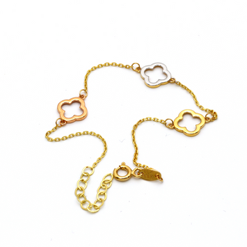 Real Gold 3C 3VC Adjustable Bracelet 1207 - 18K Gold Jewelry