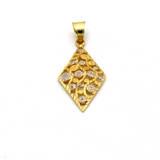 Real Gold 2C Flower GZP 004 Pendant 2020 - 18K Gold Jewelry