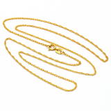 Real Gold Chain (45 C.M) 0038 - 18K Gold Jewelry