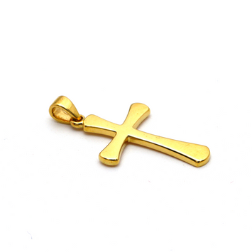 Real Gold Plain Cross Pendant 1926/11 P 1670