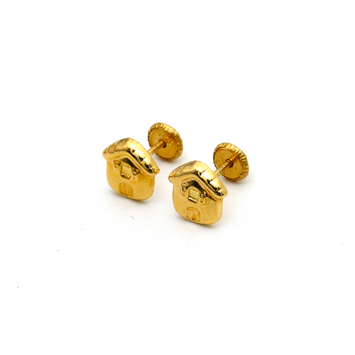 Real Gold Home Screw Earring Set K1197