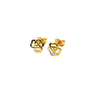 Real Gold 3 Heart Earring Set K1200