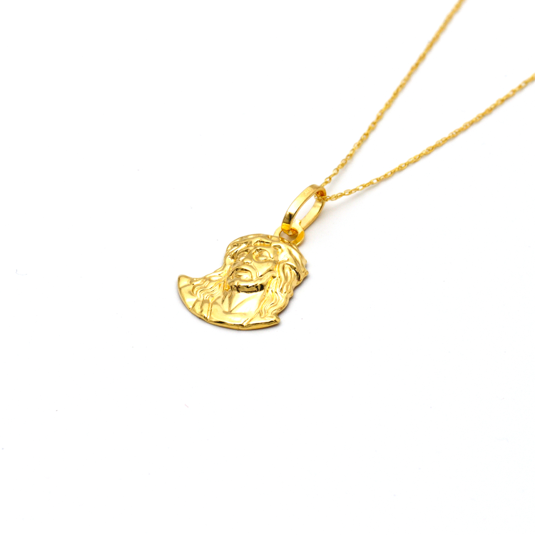 Real Gold Jesus Face Necklace 002 2020 - 18K Gold Jewelry