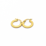 Real Gold Round Maze Hoop Earring Set B 2020 - 18K Gold Jewelry