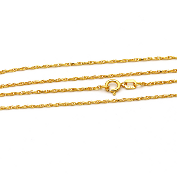Real Gold Chain (45 C.M) 0047 - 18K Gold Jewelry