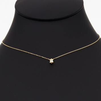 Real Gold Square Stone Choker Necklace N1217