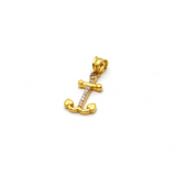Real Gold Anchor Pendant 1834 - 18K Gold Jewelry