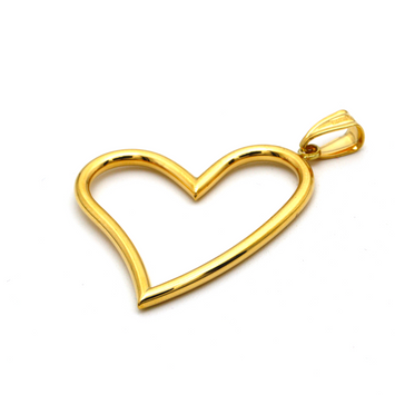 Real Gold 3D Big Heart Pendant P 1671