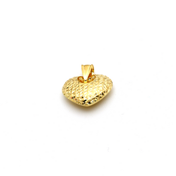 Real Gold 3D Glittering Heart Pendant P 1672