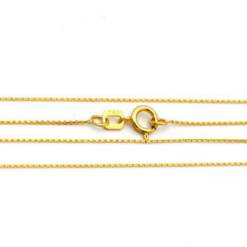 Real Gold Chain CABD (50 C.M) 0369 - 18K Gold Jewelry