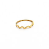 Real Gold Wave Ring (SIZE 6.5) R1623