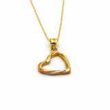 Real Gold 3 Color Heart Necklace 5441 - 18K Gold Jewelry