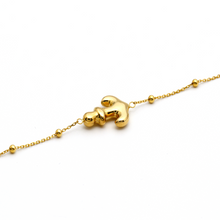 Real Gold 3D Anchor Adjustable Bracelet 0473 - 18K Gold Jewelry