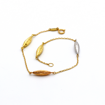 Real Gold 3 Color 2057 Bracelet BR1044 - 18K Gold Jewelry