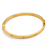 Real Gold CR Bangle (SIZE 18) BA1208