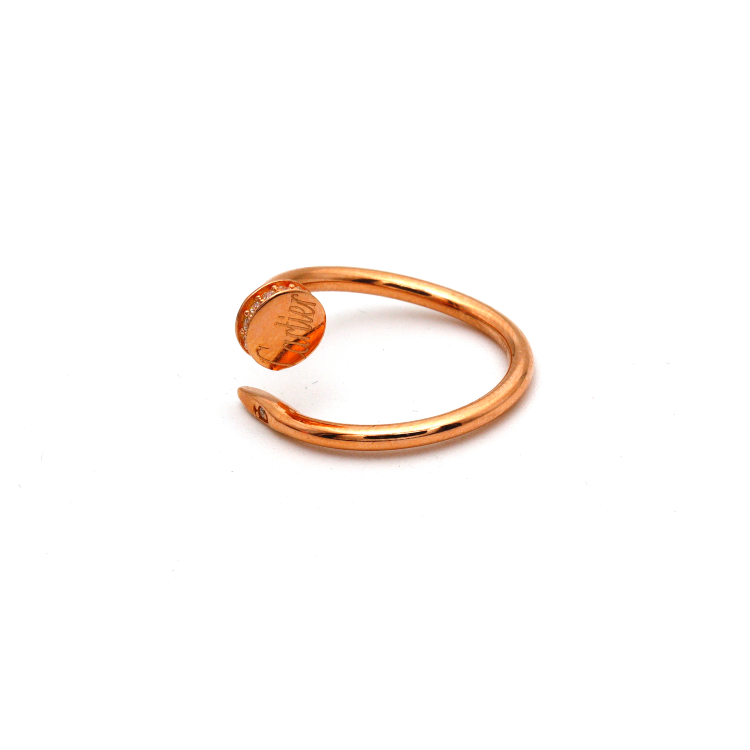 Real Gold CR Nail Rose Gold Ring (SIZE 6.5) R1633