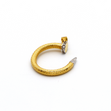 Real Gold CR Round Pendant P 1617 - 18K Gold Jewelry