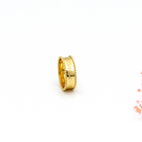 Real Gold VC A Ring (SIZE 5) R1336 - 18K Gold Jewelry