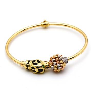 Real Gold CR Tiger Bangle (SIZE 15-16) BA1211