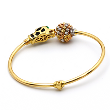 Real Gold CR Tiger Bangle (SIZE 15-16) BA1211 - 18K Gold Jewelry