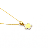 Real Gold 2 Color Star Necklace 0656 CWP 1676