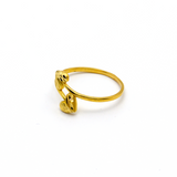 Real Gold 2 Heart Ring (SIZE 7) R1345 - 18K Gold Jewelry