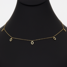 Real Gold LV Dangler Necklace N1222 - 18K Gold Jewelry