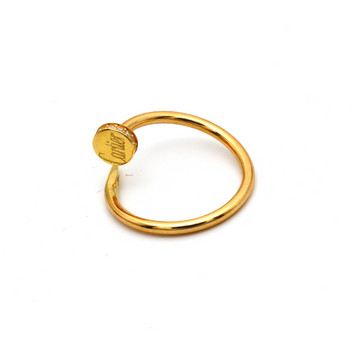 Real Gold Cr Nail Stone Ring (SIZE 8) R1639