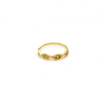 Real Gold Sea Shell textured Ring (SIZE 6.5) R1360 - 18K Gold Jewelry