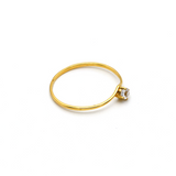Real Gold Stone Ring (SIZE 7) R1362 - 18K Gold Jewelry