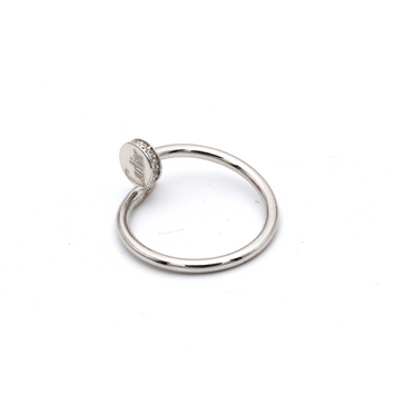 Real Gold Cr Nail Stone White Gold Ring (SIZE 8) R1642