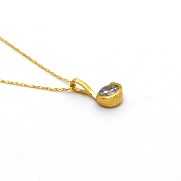 Real Gold Stone Necklace 2020 CWP 1618 - 18K Gold Jewelry