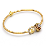 Real Gold LV Bangle B (SIZE 17) BA1148 - 18K Gold Jewelry