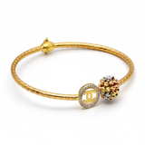 Real Gold CH Bangle (SIZE 15) BA1146 - 18K Gold Jewelry