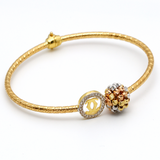 Real Gold CH Bangle B (SIZE 17) BA1150 - 18K Gold Jewelry