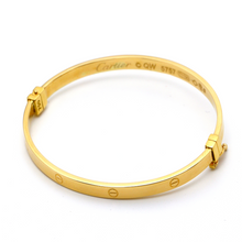 Real Gold CR - C Bangle (SIZE 17) BA1182 - 18K Gold Jewelry