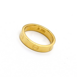 Real Gold CR Plain Ring A (SIZE 8) R1369 - 18K Gold Jewelry