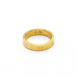 Real Gold CR Plain Ring (SIZE 5) R1368 - 18K Gold Jewelry