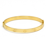 Real Gold CR Bangle (SIZE 20) BA1151 - 18K Gold Jewelry