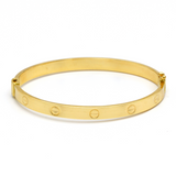 Real Gold CR Bangle (SIZE 17) BA1156 - 18K Gold Jewelry