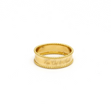 Real Gold VC A Ring (SIZE 6) R1372 - 18K Gold Jewelry