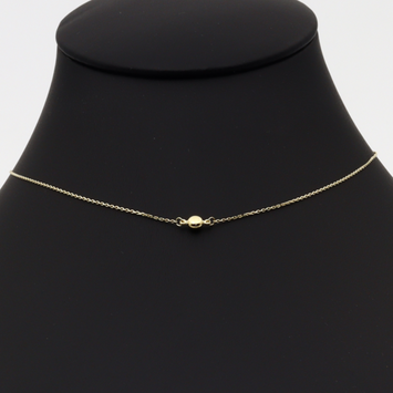 Real Gold 2 Side Plain Adjustable Size Necklace 0210 N1160