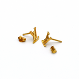 Real Gold LV Earring Set E1379 - 18K Gold Jewelry
