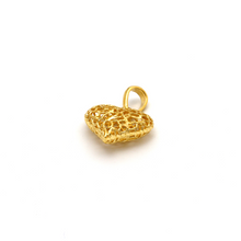 Real Gold 3D Net Heart P 1620 - 18K Gold Jewelry