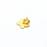 Real Gold Lined Butterfly Pendant P 1625 - 18K Gold Jewelry