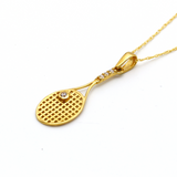 Real Gold Tennis Racquet Necklace CWP 1621 - 18K Gold Jewelry