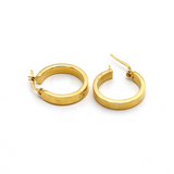 Real Gold CR Round Earring Set E1382 - 18K Gold Jewelry